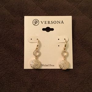 Sparkly Gold Dangle Earrings